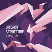Origami yapı kavramı — Stok Vektör