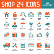 Shop 24 Vector Icons — Stok Vektör