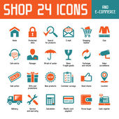 Shop 24 Vector Icons — Stock Vector