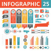 Infografica elementi 25 — Vettoriale Stock