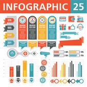 インフォ グラフィック要素 25 — ストックベクタ