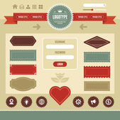 Web Interface Vintage 01 — Vector de stock