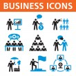 Stock Vector: Business People Vector Icons Set
