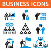 Business People Vector Icons Set — Stock Vector