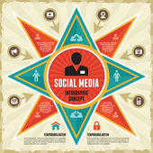 Infographic Concept of Social Media & Business Presentation — Stockvector