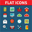 Universal Flat Icons for Web and Mobile Applications — Stock Vector
