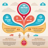 Infographic kavramı - vektör düzeni — Stok Vektör