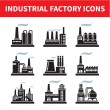 Industrial Factory Icons - Vector Set — Stock Vector