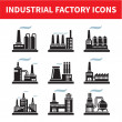 Stock Vector: Industrial Factory Icons - Vector Set