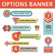 Options Vector Banners for Creative Infographics — Stock Vector