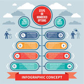 Infographics Concept - Steps or Numbered Options - Vector Scheme — Stock Vector