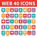 Web 40 Vector Icons — Stock Vector