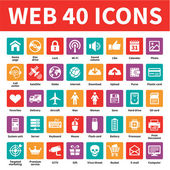 Web 40-vektor-icons — Stockvektor