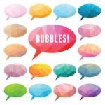 bulles polygonales — Vecteur