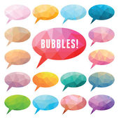 Bubbles Polygonal — Stock Vector