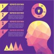 Infographic Concept with Human Head — Stock Vector