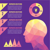 Infographic Concept with Human Head — Stockvector