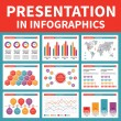 Presentation in Infographics — Stock Vector