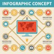 Infographic Concept - Vector Scheme with Icons — Stock Vector