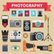Photography - Icons Vector Set - Creative Design Pictures — Stock Vector