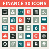 Finance & Business 30 Vector Icons — Stock Vector