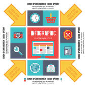 Infographic Concept for Presentation - Vector Scheme with Icons — Stockvector