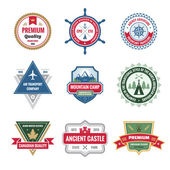 Badges Collection in Vector Format for Different Design Works — Stock Vector