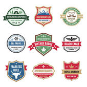 Badges Collection in Vector Format for Different Design Works — Stockvector