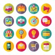 Icons Vector Set in Flat Design Style - 01 — Stock Vector #45928501