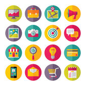 Icons Vector Set in Flat Design Style - 01 — Stock Vector