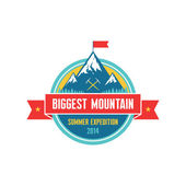 Biggest Mountain - Summer Expedition 2014 - Vector badge — Stock Vector