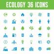 Ecology Vector Icons Set - Creative Illustration on Energy Theme — Stock Vector #49891453