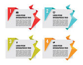 Origami Vector Banners - Infographic Concept — Stock Vector