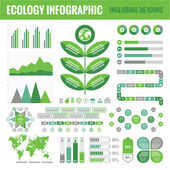 Ecology Infographic Set (including 36 icons) — Stock Vector
