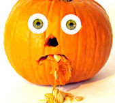 Poor Sick Pumpkin — Stock Photo