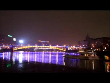 Moscow river — Stock Video