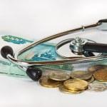 stéthoscope et argent — Photo