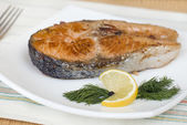 Steak fried trout — Stock Photo