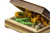Jewelry box with beads — Stock Photo