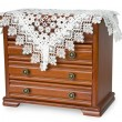 Wooden chest of drawers for jewelry — Stock Photo