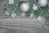Silver Christmas composition — Stock Photo