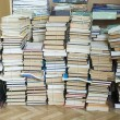 Tall stacks of old books — Stock Photo #30487883