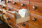 Library Card Catalog — Stock Photo