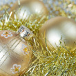 Golden christmas decoration — Stock Photo