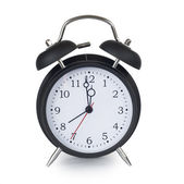 Black classic alarm clock — Stock Photo