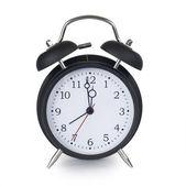черный классический будильник — Стоковое фото