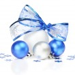 White and blue Christmas decoration — Stock Photo