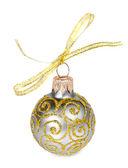 Pallina di Natale dorato — Foto Stock