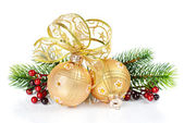 Golden Christmas decoration — Stok fotoğraf