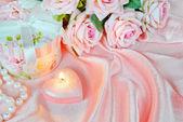 Horizontal pink composition — Stok fotoğraf